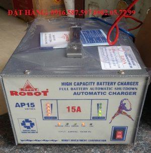 nạp ắc quy 15a tự động hãng robot sản xuất