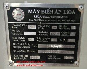 Tìm nơi cung cấp máy biến thế-máy biến áp lioa 1 pha 220v-100v, 120v, 3 pha 380v 400v-200v-220v