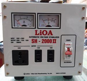 ổn áp lioa sh 2000ii, lioa 2kw, lioa 2kva chất lượng rất tốt độ bền cao chạy êm, tiết kiệm điện năng