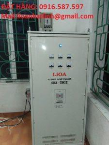 ổn áp lioa 75kva dây đồng , lioa dr3 75kva dải rroongj 90v-250v-160v-430v